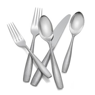 Fiona 5-Piece 18/10 Stainless Steel Flatware Set, Service for 1