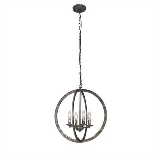 Gracie Oaks Woolf 4-Light Globe Pendant