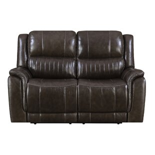 Guineau Top Grain Leather Reclining Loveseat
