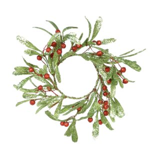 Holly Berry Candle Ring (Set of 4)
