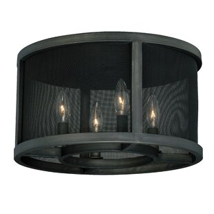 Williston Forge Digirolamo 4-Light Flush Mount