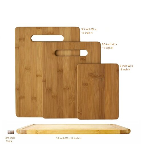 Fulton 4-Piece Bamboo Cutting Board