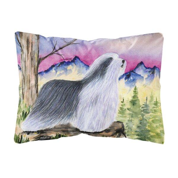 East Urban Home Bearded Collie Indoor Outdoor Rectangular Throw Pillow Wayfair