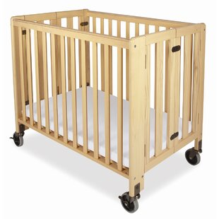 Hideaway Storable Wood Compact Crib with Mattress by Foundations