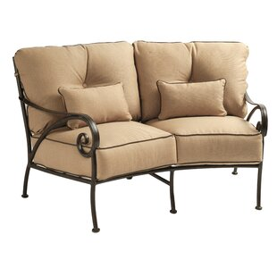Lucerne Crescent Loveseat with Cushions by Leona