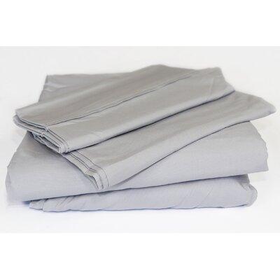Beacon Linens Safe Haven 4 Piece Sheet Set  Size: Queen, Color: Silver