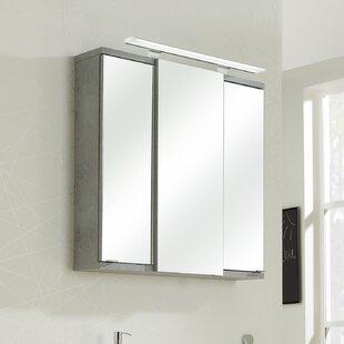 Fresh Line Grey 75 X 75cm Mirrored Bathroom Cabinet By Quickset
