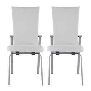 Buy luxury Lyusha Upholstered Dining Chair (Set of 2) by Orren Ellis Reviews (2019) & Buyer's Guide