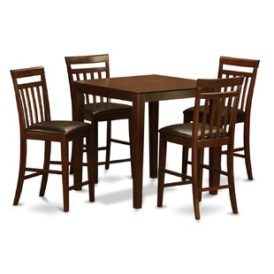 East West Furniture Vernon 5 Piece Counter Height Pub Table Set