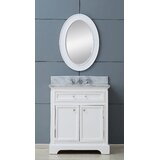 Bergin 30 Single Sink Bathroom Vanity Set with Mirror by Three Posts™