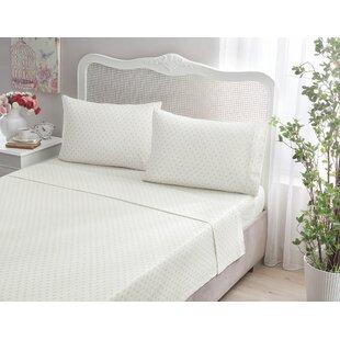 Brielle Fleur De Lis 100% Printed Cotton Jersey Sheet Set