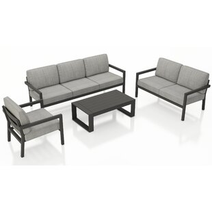 Iliana 5 Piece Deep Seating Group with Sunbrella Cushions (Set of 5)