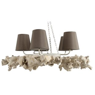 A&B Home 4-Light Shaded Chandelier