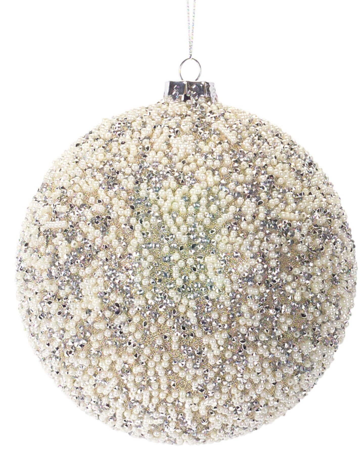 The Holiday Aisle Beaded Ball Ornament Set Of 2 7 H Glass Wayfair