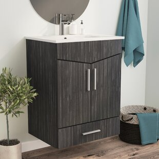 Kapp European Wall Mount 23.75 Single Bathroom Vanity Set by Royal Purple Bath Kitchen