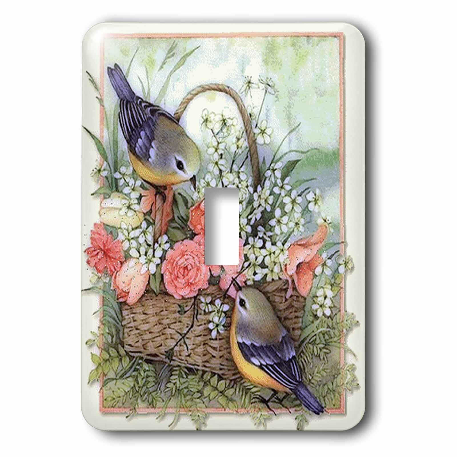 3drose Sparrows In Roses Basket 1 Gang Toggle Light Switch Wall Plate Wayfair