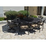Maccharles 10 Piece Dining Set with Cushions