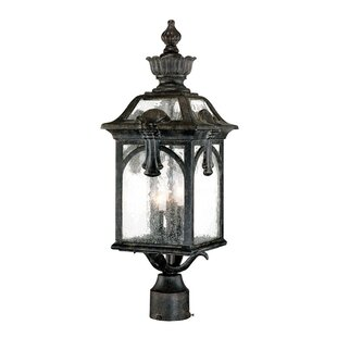 Beachcrest Home Amberfield Outdoor 3-Light Lantern Head