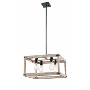 Pulver 4-Light Square Chandelier