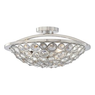 Metropolitan by Minka Magique 3-Light Semi Flush Mount
