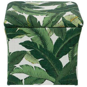Promfret Swaying Palm Aloe Storage Ottoman by Beachcrest Home