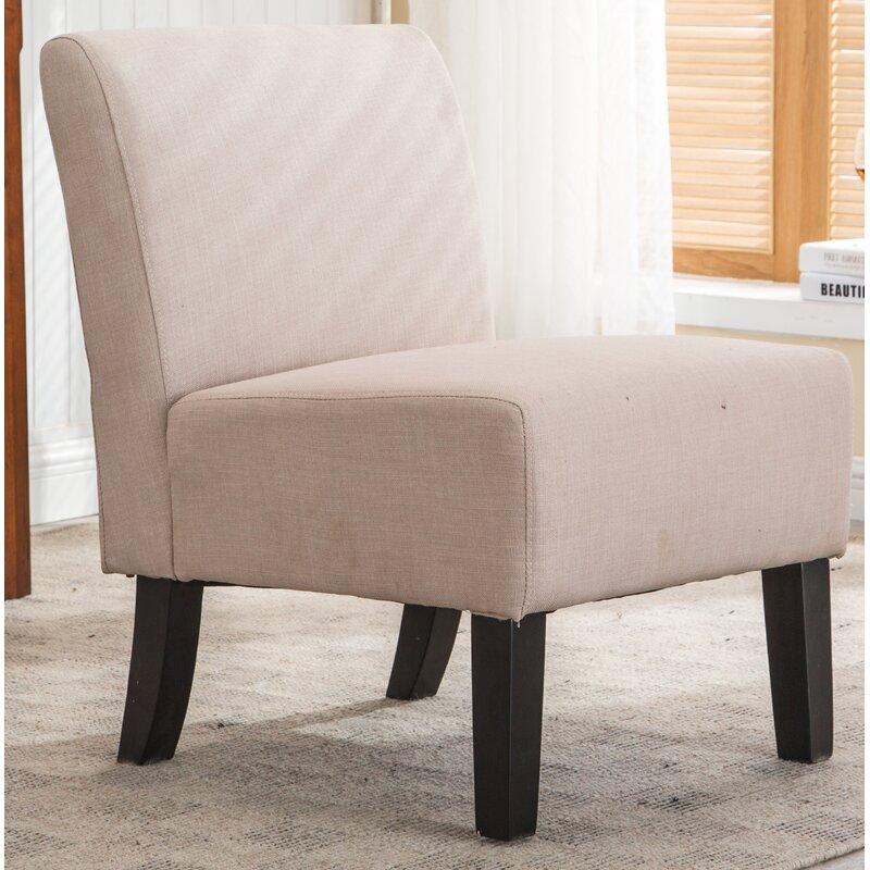 Superbe Armless Slipper Side Chair