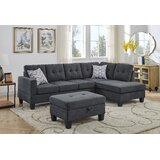 Mullewa Atom 98 Right Hand Facing Sectional with Ottoman by Latitude Run