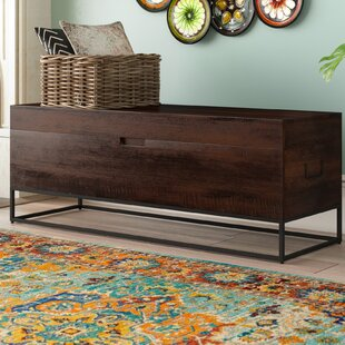 Rancho Mirage Wood Storage Bench by Bloomsbury Market
