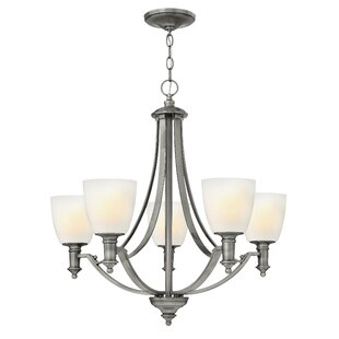Alcott Hill Meadville 5-Light Shaded Chandelier