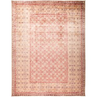 Great choice One-of-a-Kind Dewsbury Hand Knotted Wool Pink Area Rug By Isabelline