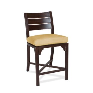 Bungalow Patio Bar Stool with Cushion (Set of 2)