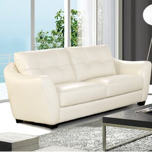 off white leather sofa You\'ll Love in 2019 | Wayfair