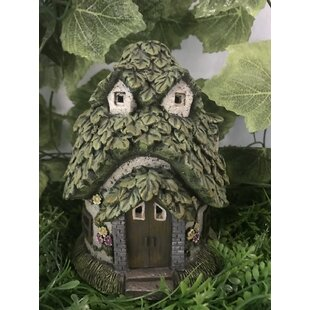 Cottage with Leaf Roof Fairy Garden by Hi-Line Gift Ltd.