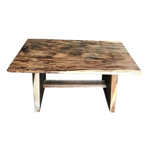 Mcphearson One Block Slab Solid Wood Dining Table Millwood Pines