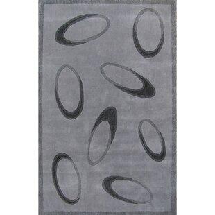 Compare Casual Contemporary Grey / Black Le Cirque Area Rug ByAmerican Home Rug Co.