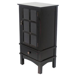 Chanson Wooden Accent Cabinet with Glass Insert