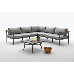 Elwood Outdoor 2 Piece Sectional Set with Cushions