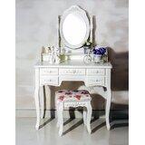 Ponticus 7 Drawer Vanity Set with Mirror by One Allium Way®