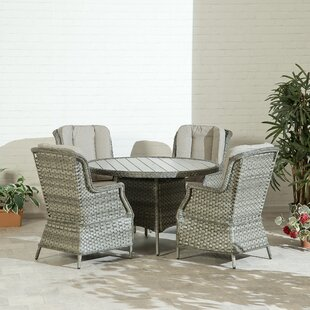 4 Seater Dining Set With Cushions By Suntime