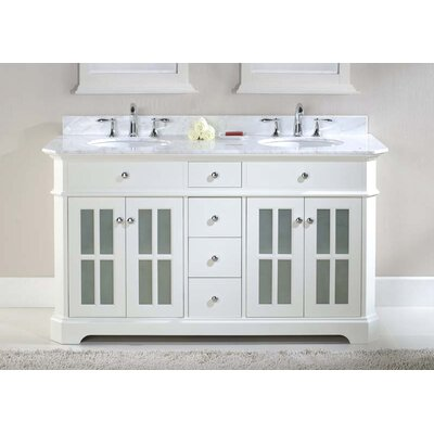 "harper beach monterey 60"" double bathroom vanity set & reviews"