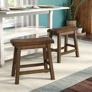 Bates 18 Wood Bar Stool (Set of 2) Andover Mills