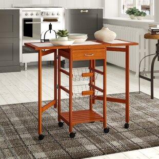 Kitchen Cart with Wood Top HomCom
