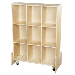 Best Reviews Contender Roll and Write 9 Compartment Cubby with Casters By Wood Designs