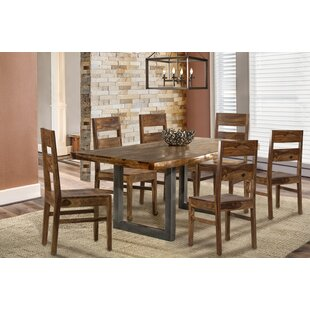 Thomasson 7 Piece Solid Wood Dining Set