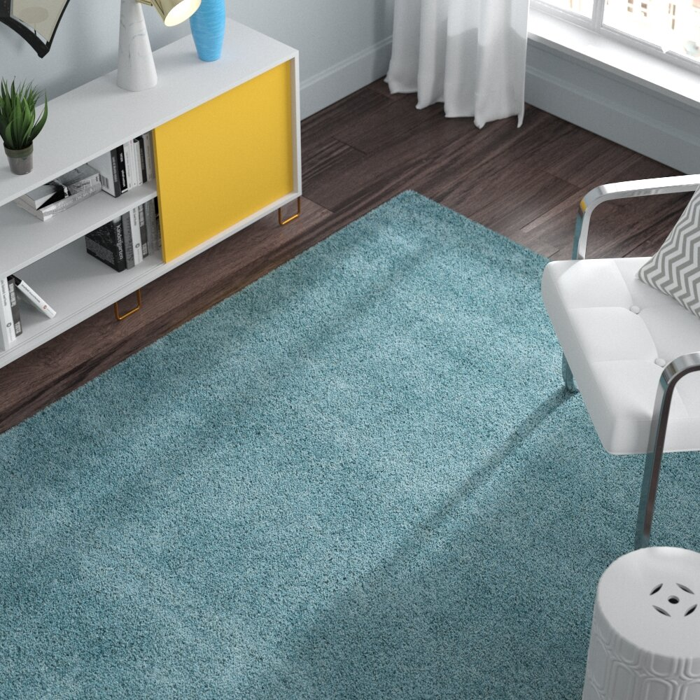 Zipcode Design Starr Hill Aqua Blue Area Rug & Reviews | Wayfair