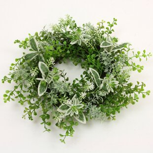 Leaves 33cm Artificial Wreath (Set Of 6) By The Seasonal Aisle