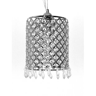 Britley 1-Light Crystal Pendant by House of Hampton