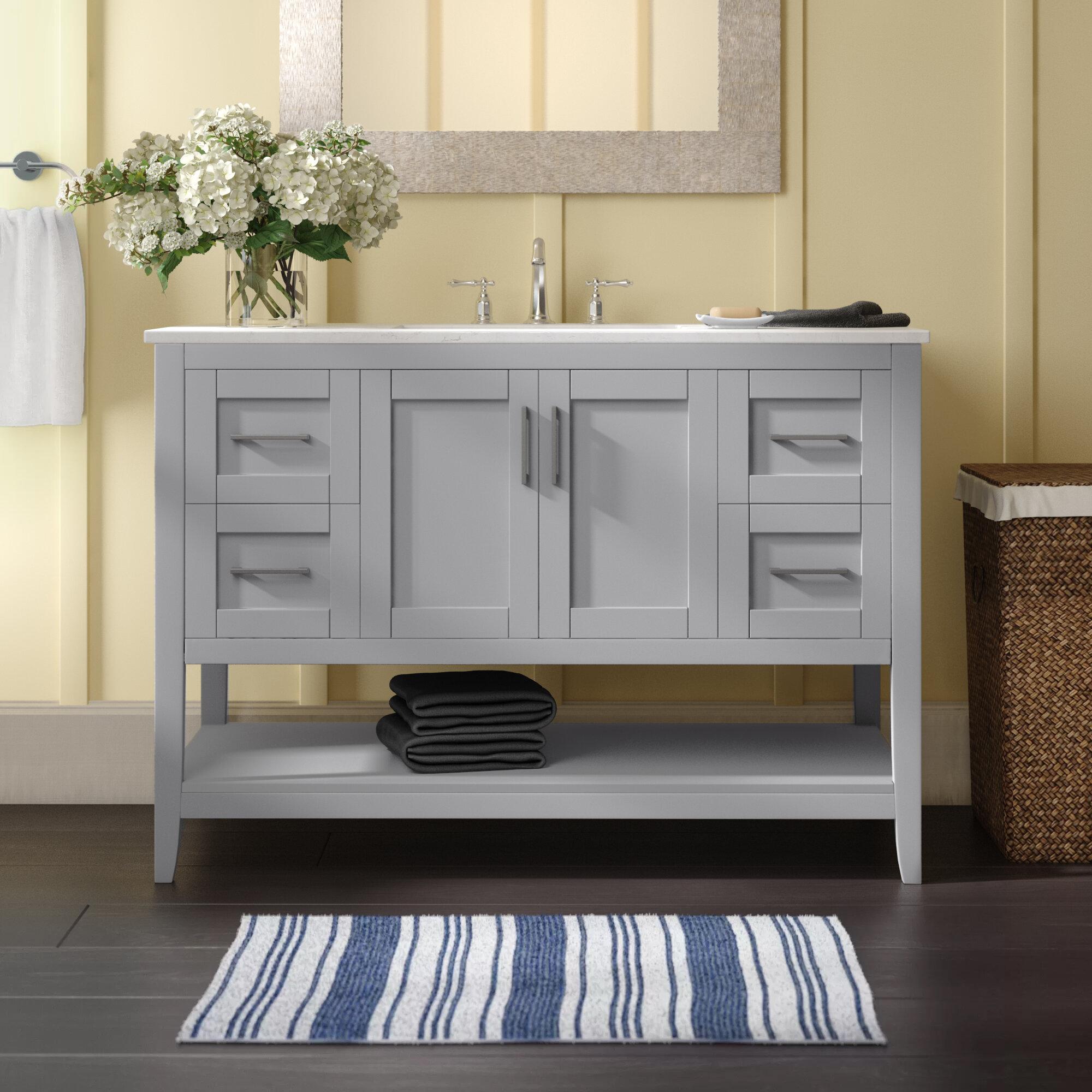Beachcrest Home Caoimhe 48 Single Bathroom Vanity Set Reviews Wayfair