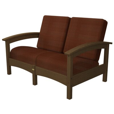 Rockport Club Deep Seating Sofa with Cushions Trex Outdoor Color: Tree House / Chili
