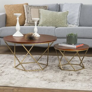 Look for Dunavant Wood 2 Piece Coffee Table Set By Mercury Row